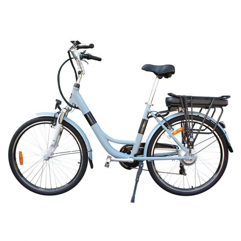 """Vélo électrique ville Newton Alu 26"""" Mixte 6V 36V/468 Wh Gris titane - 1"""