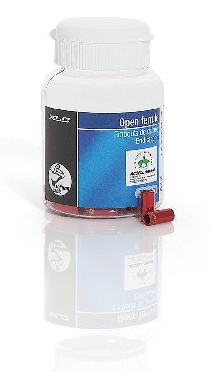 Arrêts de gaine XLC Alu Rouge 4 mm (50 pièces)