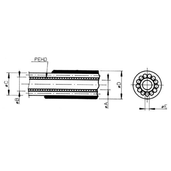 Gaine de dérailleur Saccon 4 mm Noir (Rouleau 50 m) - 1