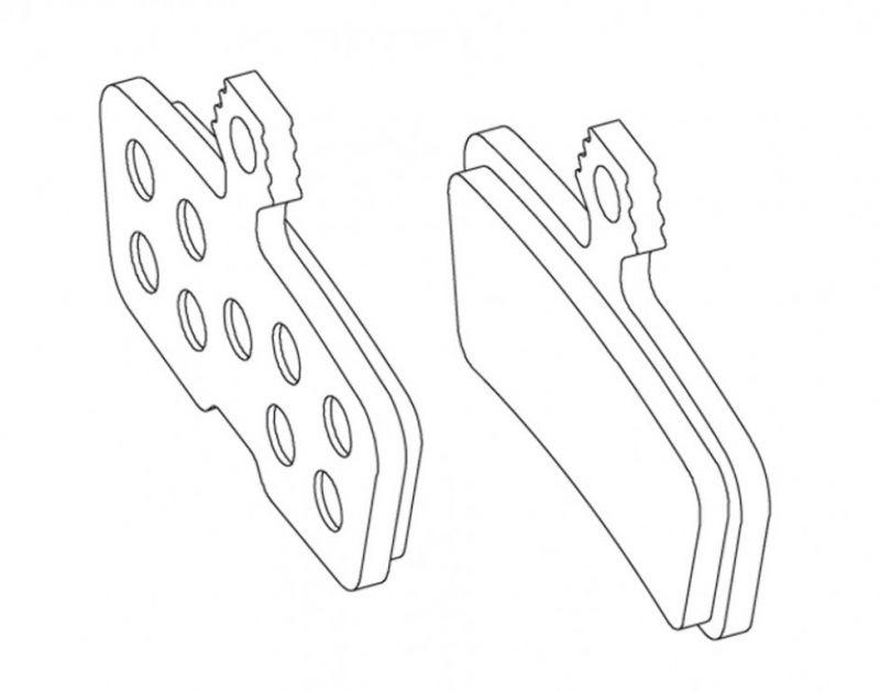 Plaquettes de frein Avid pour Code 2011 métalliques
