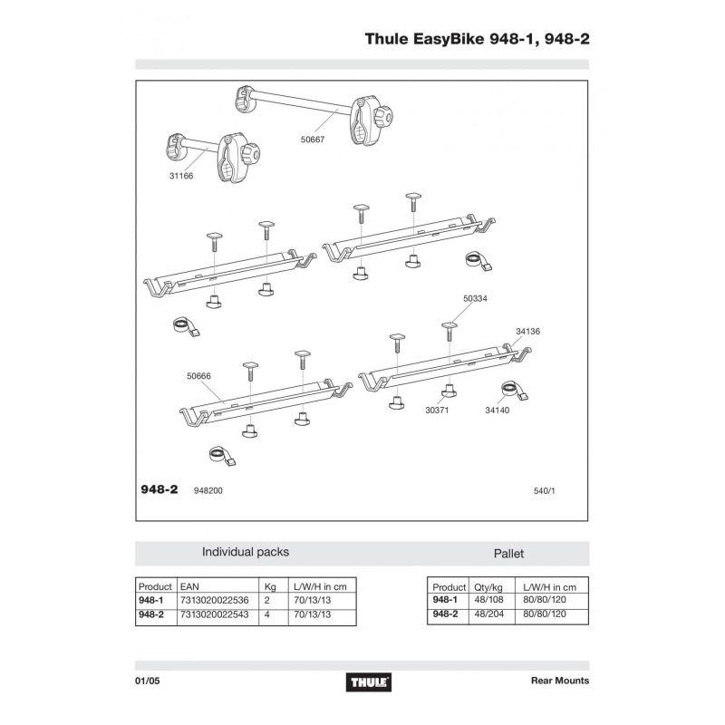 Rail Thule 948-1,948-2 - 50666 - 1