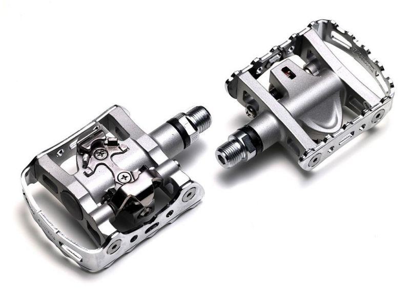 Pédales mixtes Shimano M324 Argent