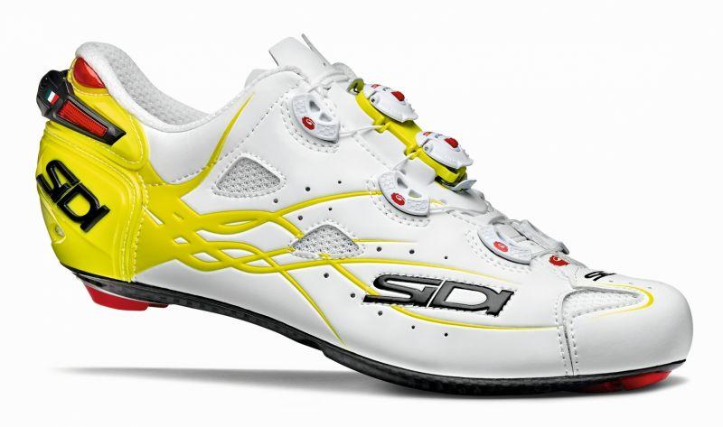 Chaussures Sidi SHOT Blanc/Jaune fluo mat
