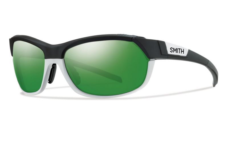 Lunettes Smith Optics PivLock Overdrive Noir Blanc Mat/Vert Sol-X