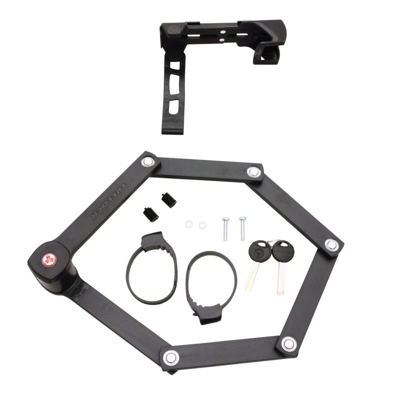 Antivol pliable Trelock Trigo FS 300/85 + support Noir - 1