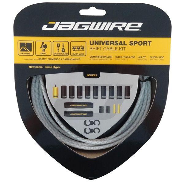Kit câble et gaine de dérailleur Jagwire Universal Sport - Blanc tressé UCK222