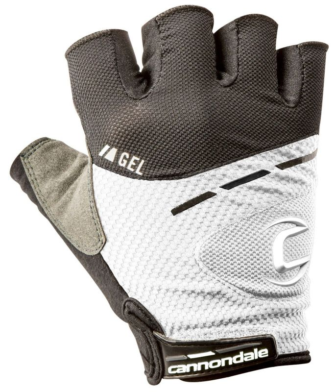Gants courts Cannondale Endurance Race Gel Blanc/Noir