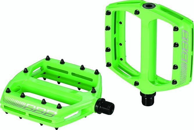 Pédales plates BBB CoolRide Vert - BPD-36