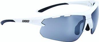 Lunettes BBB Impulse Blanc brillant + Verre PC Smoke Flash Mirror 5207 - BSG-52