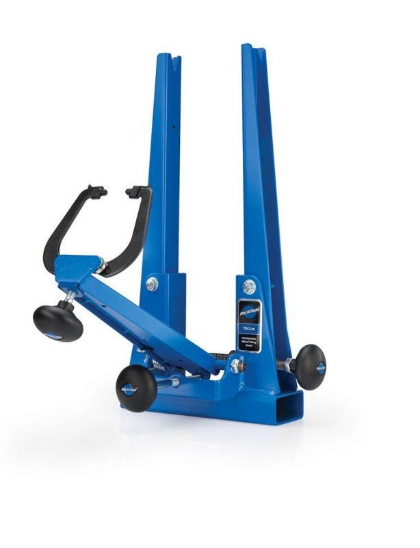 Dévoileur de roues professionnel Park Tool laqué bleu - TS-2.2P