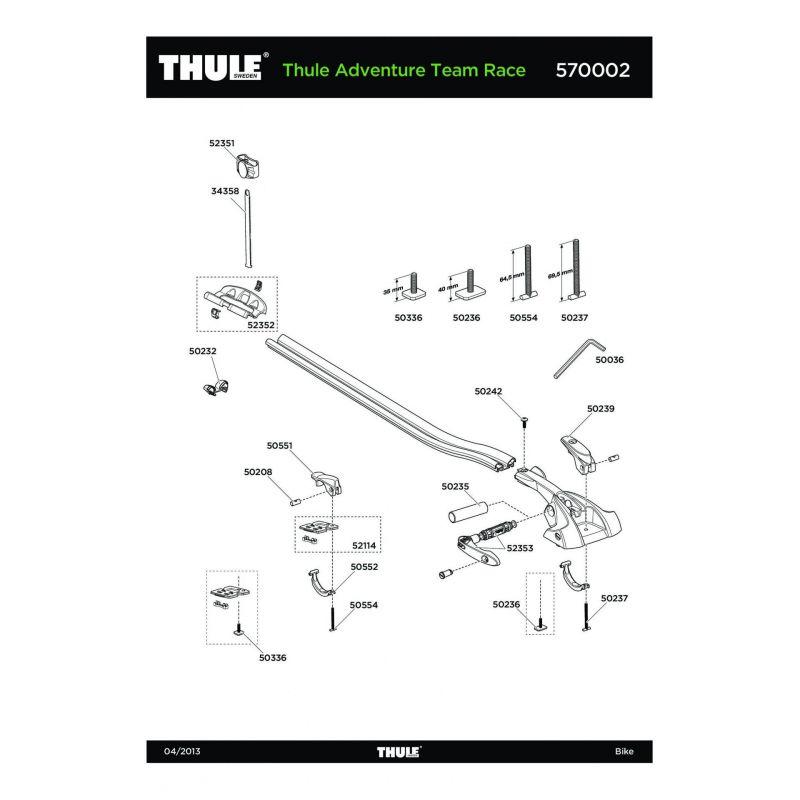 Vis Thule M6x35mm - 50336 - 5
