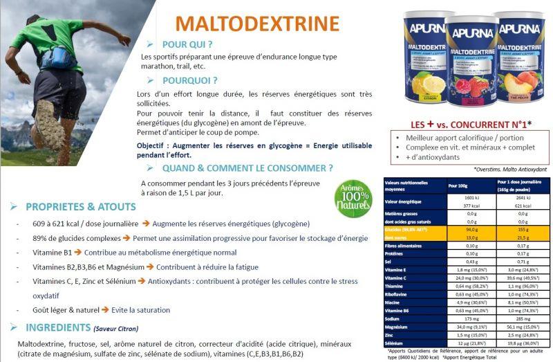 Maltodextrine Apurna Thé Pêche 500 g + 1 Bidon - 1