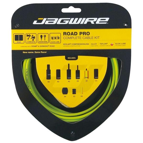 Kit complet câbles et gaines Jagwire Road Pro - Vert RCK003