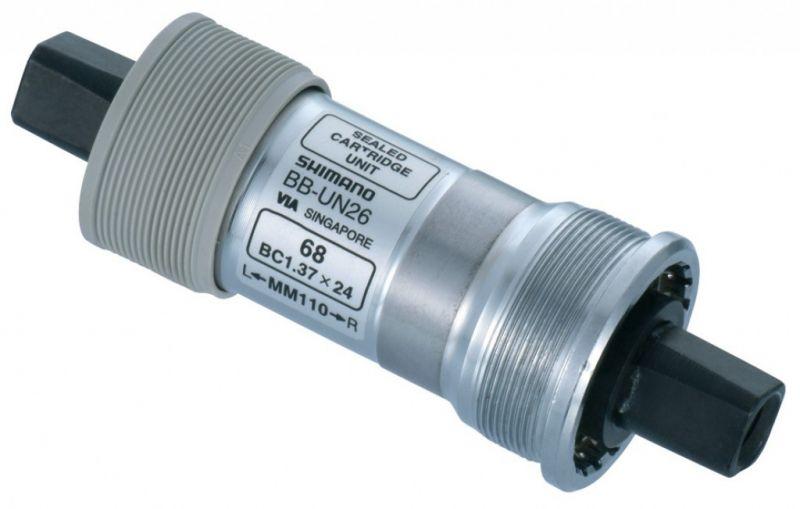 Boîtier de pédalier Shimano BB-UN26 BSA Carré 73 x 113 mm
