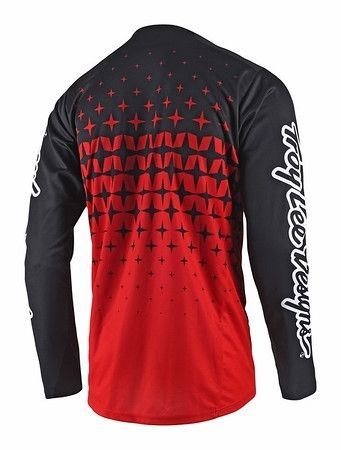Maillot Troy Lee Designs Sprint Megaburst Rouge/Noir - 2