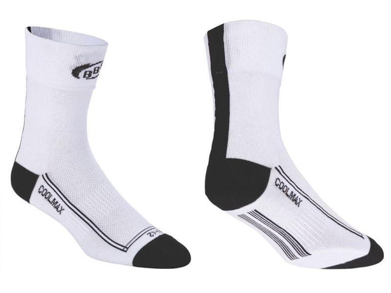Chaussettes hautes/basses BBB FoldFeet (noir/blanc) - BSO-03