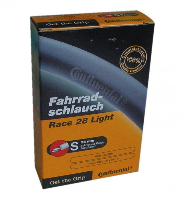 Chambre à air Continental Race Light 700 x 18/25C Presta 42 mm