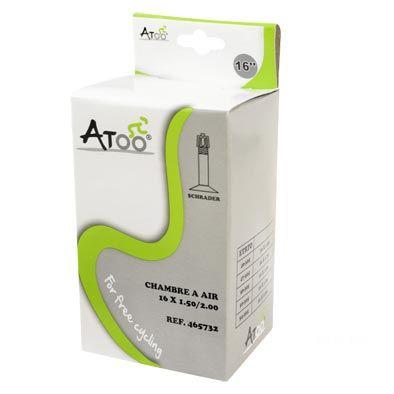 Chambre à air ATOO 16 x 1.75/2.00 Schrader 35 mm