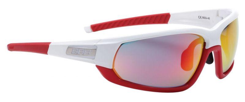 Lunettes BBB Adapt Fullframe verres rouges (blanc/Rouge) - BSG-45