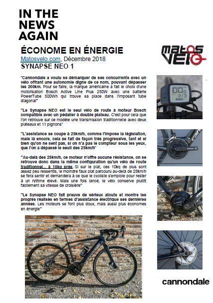 Vélo route électrique Cannondale Synapse NEO 1 Noir/Argent - 2