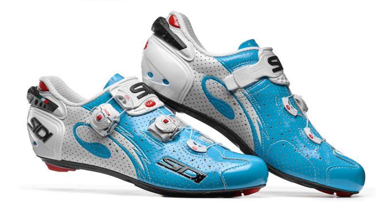 Chaussures Sidi WIRE Carbon Air '17 Bleu Sky/Blanc