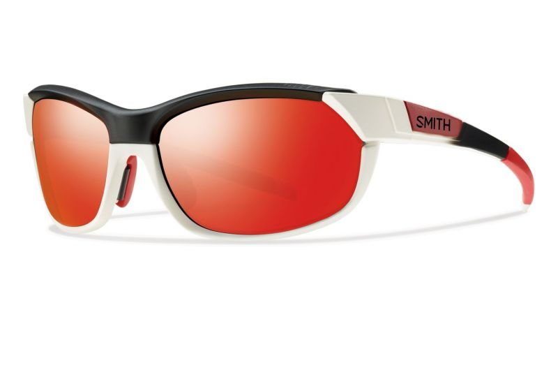 Lunettes Smith Optics PivLock Overdrive Blanc Rouge Fade/Rouge Sol-X