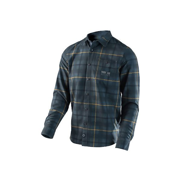 Chemise Troy Lee Designs Grind Plaid Gris