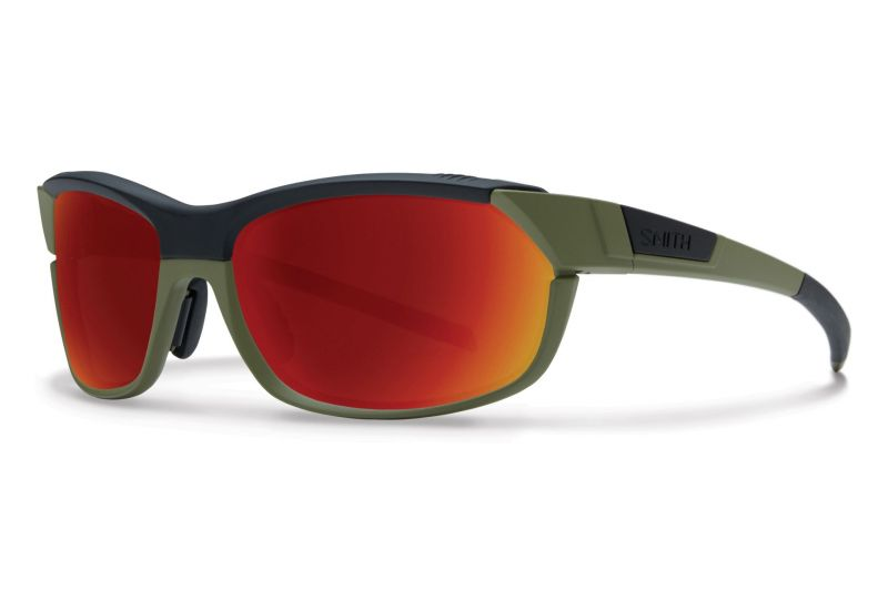 Lunettes Smith Optics PivLock Overdrive Vert Olive Noir Mat/Rouge Sol-X