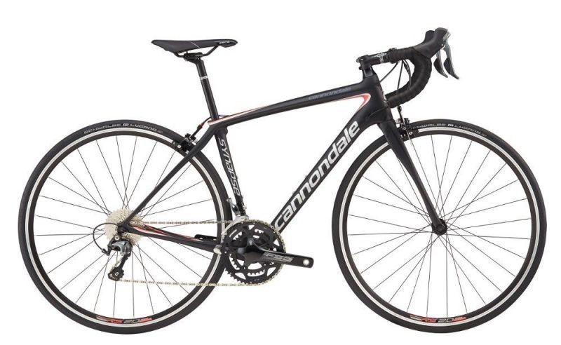 Vélo route Cannondale Synapse Carbon Tiagra WMN 2017 Noir/Argent/Corail