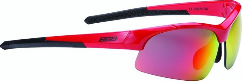 Lunettes BBB Impress Small Rouge brillant verres rouges 4803 - BSG-48