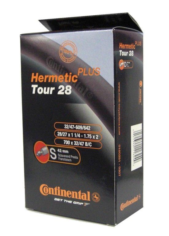 Chambre à air Continental Tour Hermetic Plus 27/28 x 1.1/4-1.75 Presta 42 mm