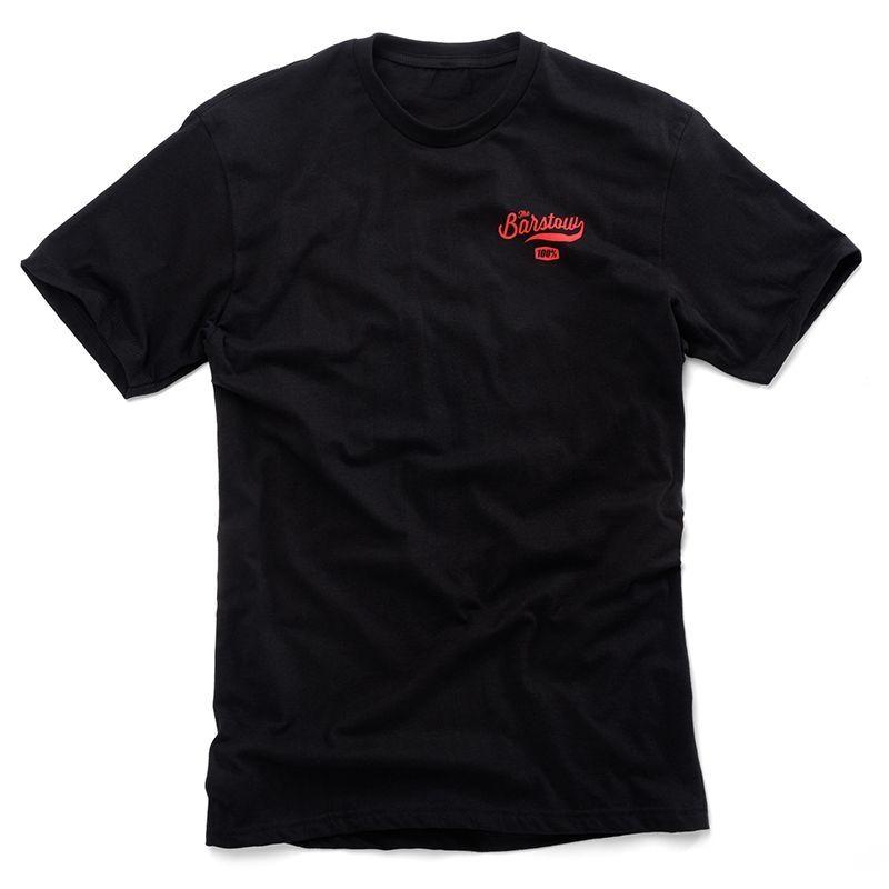 Tee shirt 100% Barstow 82 noir/orange