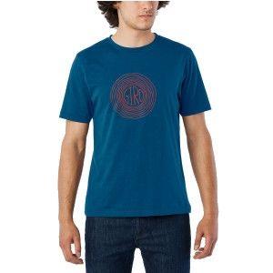 Tee-shirt Giro Transfer Bleu/Rouge