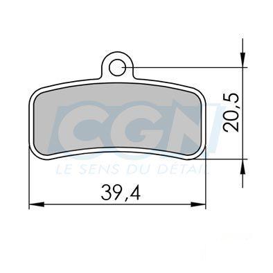 Plaquettes de frein 36 Clarks Exotherm comp. Shimano SAINT / ZEE Organique