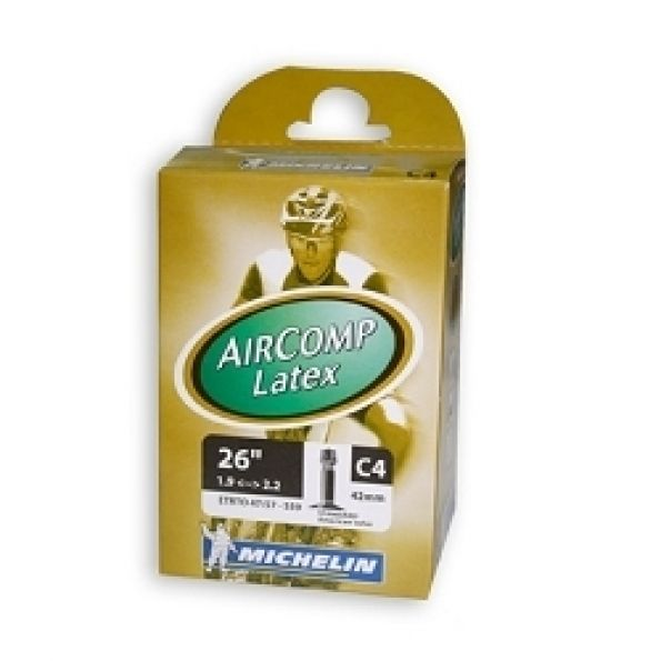 Chambre air michelin c4 latex schrader for Chambre a air 26x1 5