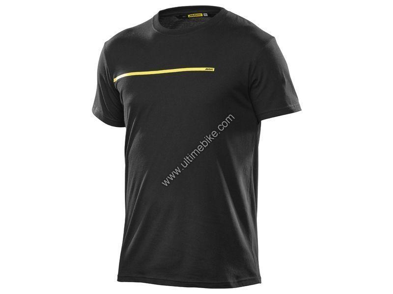 T-shirt Femme Mavic La Bande Jaune Noir