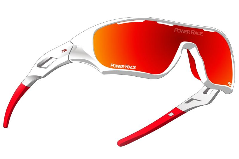 Lunettes Power Race Star Fighter Blanc/Rouge