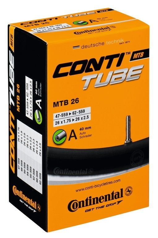 Chambre à air Continental VTT 26 Downhill ép. 1,5 mm 26 x 2.30/2.70 Schrader 40 mm