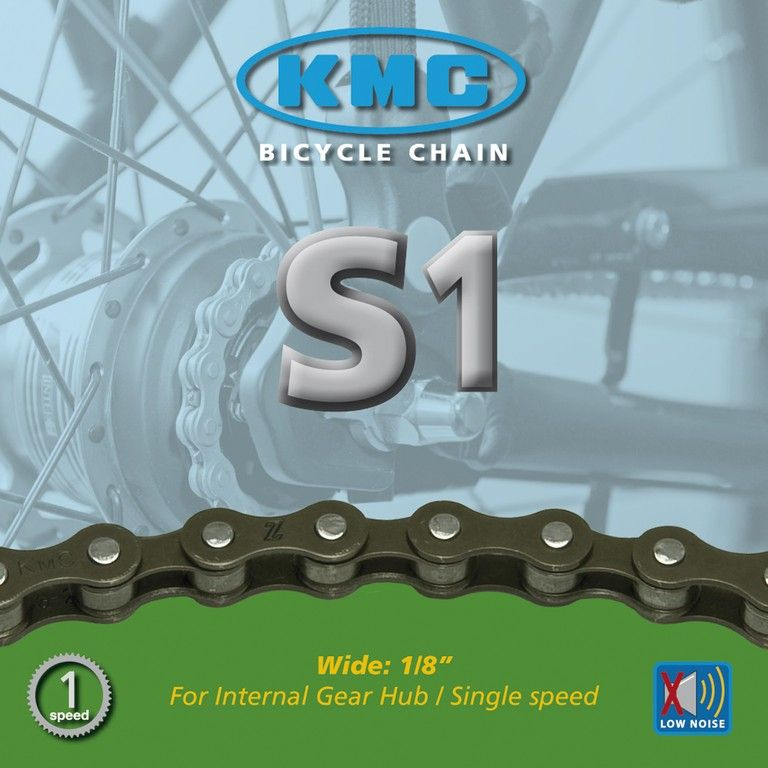 Chaîne KMC Z410 S1 1/2/3V 112M Marron - 1