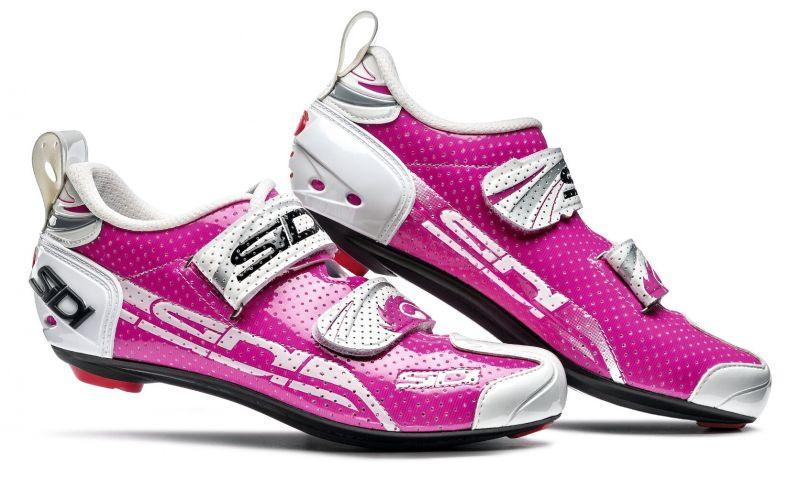 Chaussures Sidi T4 AIR Carbon Women Fushia/Blanc