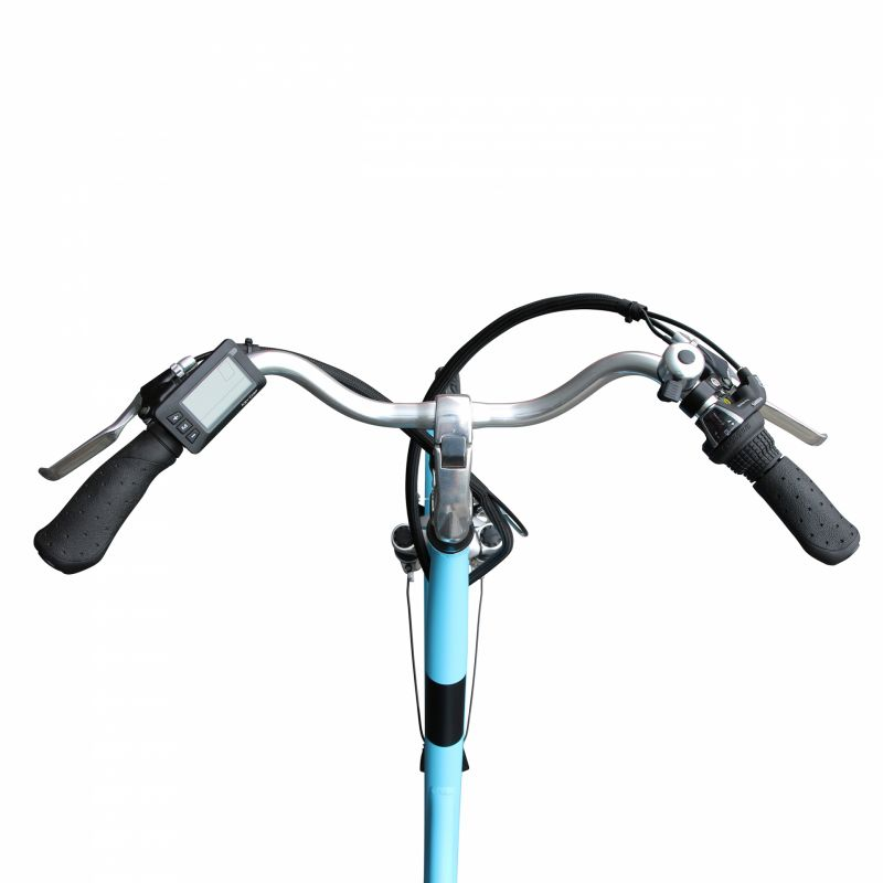 """Vélo électrique ville Newton Alu 26"""" Mixte 6V 36V/468 Wh Bleu - 4"""
