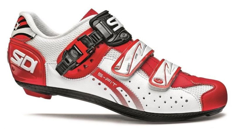 Chaussures Sidi GENIUS 5-FIT Carbon blanc/rouge mat