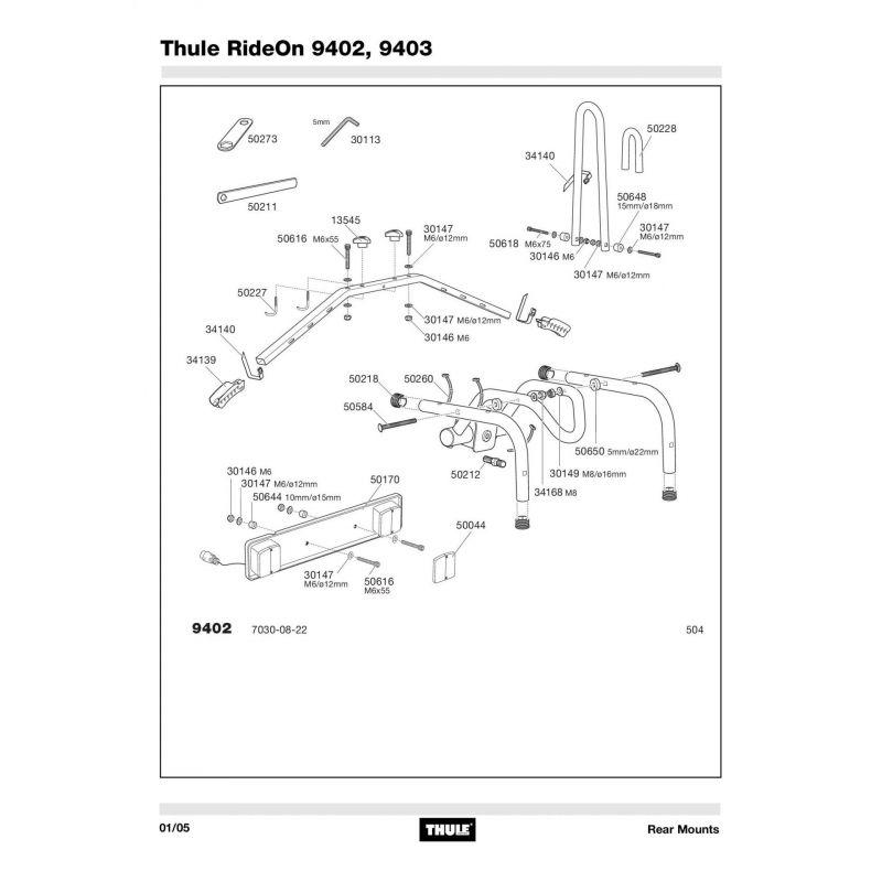 Molette Thule M8 - 13545 - 8