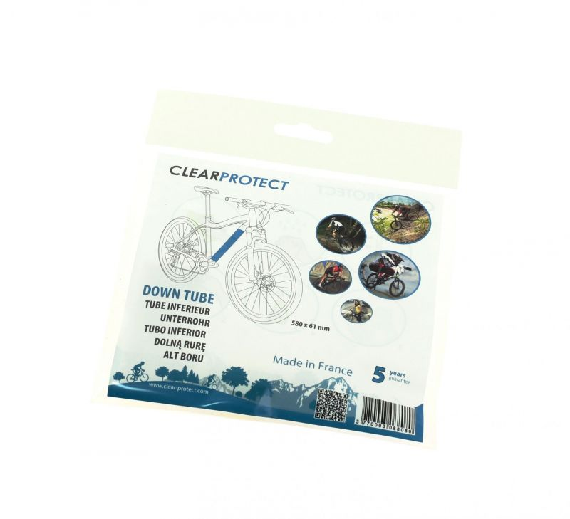 Protection universelle de cadre de vélo ClearProtect Tube horizontal