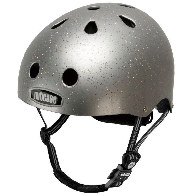 Casque Nutcase Supersolid Street Silver Sparkle Taille L