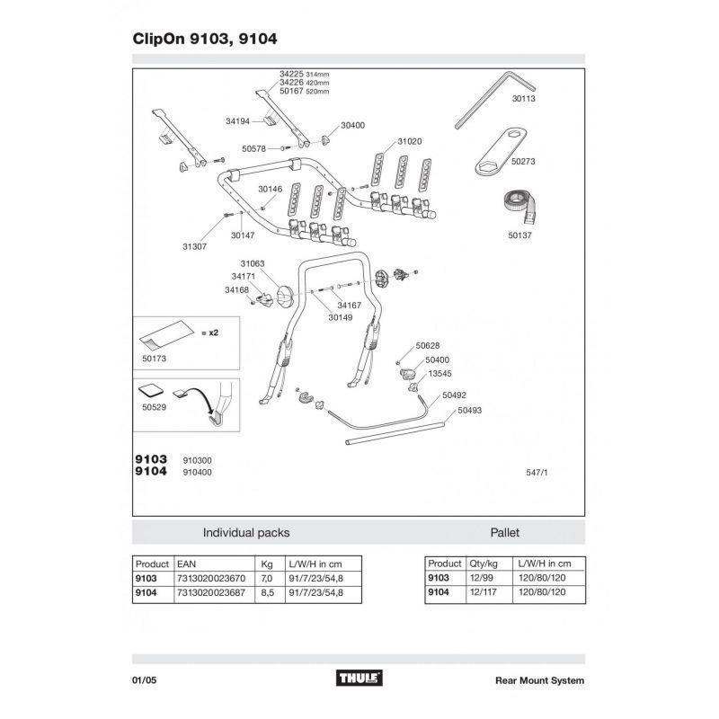 Molette Thule M8 - 13545 - 5