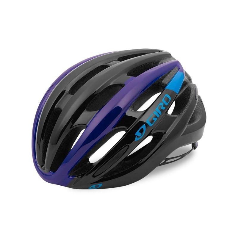 Casque Giro FORAY Noir mat/Bleu/Violet