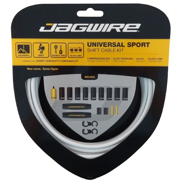 Kit câble et gaine de dérailleur Jagwire Universal Sport - Blanc UCK214