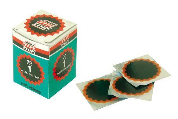 Boîte de 30 rustines Tip-Top N°1 rondes 35 mm