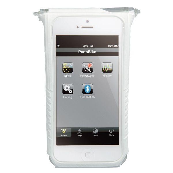Housse étanche et support Topeak SmartPhone DryBag - Apple iPhone 5 & 5S (blanc)